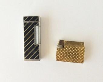 Vintage Cigarette Lighters for Parts, Diplomat Dante Not Working Ca. 1950s 1970s, Butane Cigarette Lighters