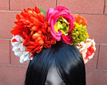 Fall Flower Crown, Flower Headband, Floral Crown, Day of the Dead, Dia de los Muertos, Festival, Wedding