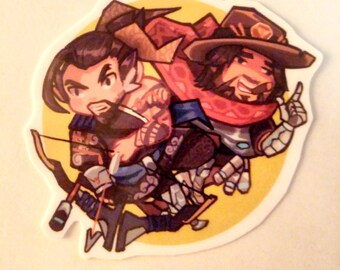 MCCREE HANZO STICKER