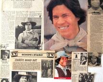 A MARTINEZ ~ Longmire, Santa Barbara, General Hospital, The Cowboys ~ Color and B&W Clippings, Articles, Pin-Ups from 1974-1992