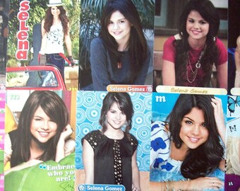 SELENA GOMEZ ~ Wizards Of Waverly Place, Love You Like A Love Song, Same Old Love, Hands To Myself ~ Color Pin-Ups fr Scrapbooking - Batch 1