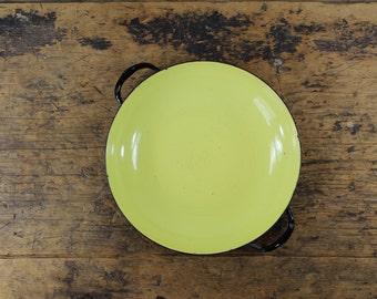 Vintage Yellow Enamel Italian Pan / Sizzling Server by Lantoni Made in Italy