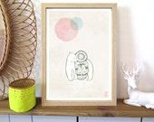 "A5 A4 A3 Artprint ""Eskimo"" Izumi (limited edition)"