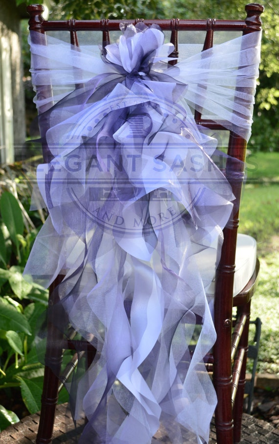Set Of 2 Bride And Groom Chair Sash With By