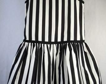 Vintage 80s Girls Black and White Bubble Dress- Size 10- New, never worn