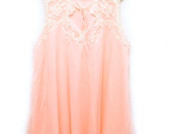 80s Peach Nightgown Blanche Plus Size 22/24