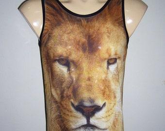 Lion King Narnia Animal Art Printed Tank Top Men Shirt Men T-shirt L