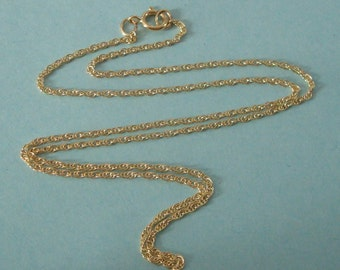 Finished Chain, 14K Gold Filled, 16 Inch, 1.4mm Double Rope Chain, with Spring Ring Clasp, GFFCH114