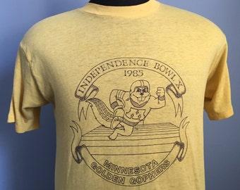80s Vintage Minnesota Golden Gophers University 1985 Independence Bowl football T-Shirt - XL X-LARGE 46-48