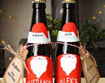 Personalised Christmas beer Label Printables
