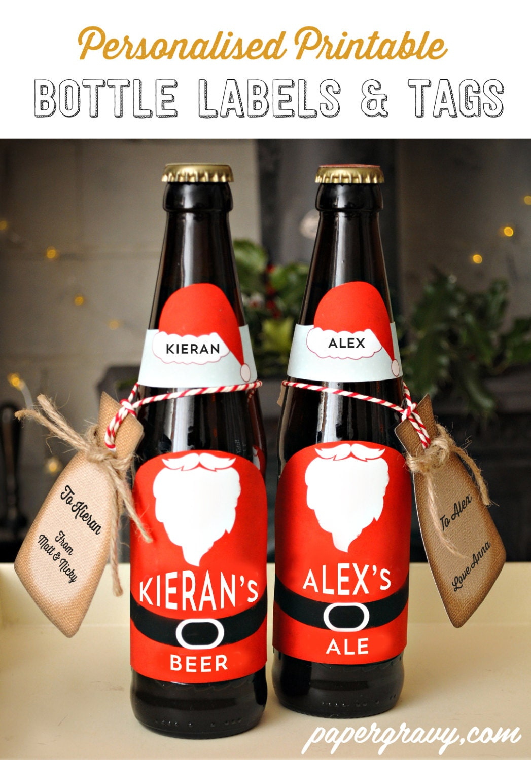 Persnickety image for printable beer bottle labels