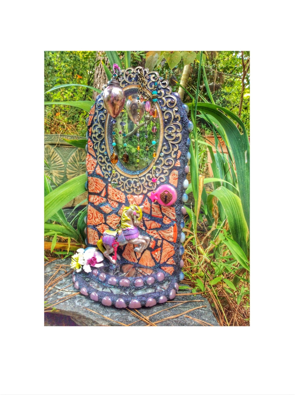 Mosaic Fairy Doormosaic Garden Art Home Decor Fairy Garden