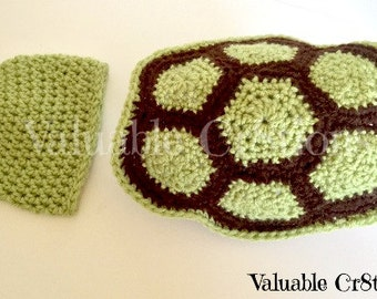 Newborn Photo Prop Crochet Turtle Set Animal Crochet Baby Cape and Hat Turtle Shell MADE TO ORDER