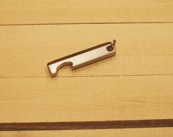 Hand Made Aluminum/Walnut Keychain Bottle Opener