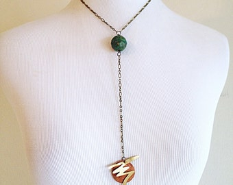 Electric Planet. Metal Findings Necklace