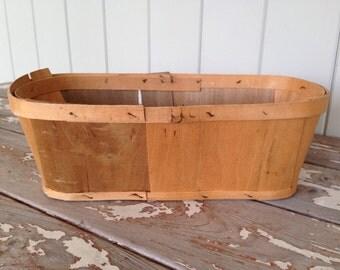 VINTAGE FARM BASKET - Vegetable Picking Basket, Farm Stand Basket, Storage Basket, Wooden Basket, Amish Basket, Storage, Home Decor, Garden