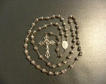 Vintage Hallmarked Sterling Rosary