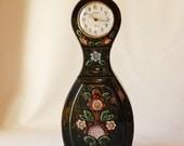 Tabletop Mora Clock in dark green ceramic by Jie Gantofta, made in 1982