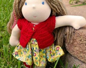 Waldorf Doll, Waldorf Inspired Doll, Fabric Doll, Cloth Doll, Handmade Doll, 12 inch Waldorf doll, Waldorf Doll Dresses, Blonde