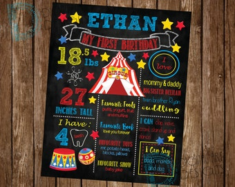 Circus Birthday Party - Circus Chalkboard Birthday Poster - Circus Party Idea  - Carnival Party - Circus Themed Party - Circus Party