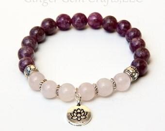 Pink tourmaline bracelet, rose quartz bracelet, love bracelet, tourmaline jewelry, relationship bracelet, peace bracelet, eternal love