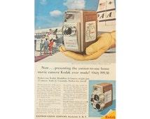 Kodak Camera Ad - 1957 Magazine Advertisement for Kodak Medallion 8 Movie Camera
