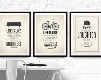 Motivational Wall Art Bundle, Set of 3 Prints, 55% OFF, A4 Wall Prints, Posters and Prints, Encouraging Quotes, Office Decor Prints