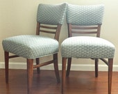 2 Mid Century Modern Chairs.Wood Furniture.Small Space. Cottage Home
