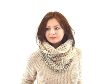 ON SALE Chunky Cowl Neckwarmer Scarf // The Newport // in Sandstone