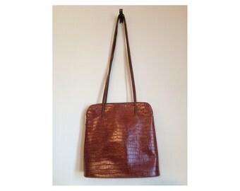Vintage tan urban tote bag