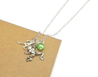 Frog Necklace, Frog Charm Necklace, Personalised Initial Necklace, Frog Jewellery, Toad Jewelry, Pond Jewellery