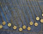 Zodiac Sign Necklace, Zodiac Necklace, Astrology Necklace, Gypsy Jewelry, Astrology Jewelry, Zodiac Jewelry, Birthday Jewelry
