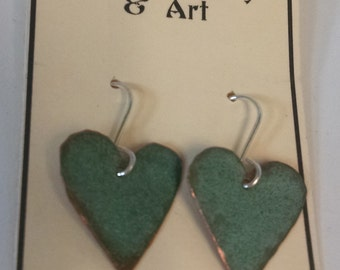 Bangor Public Library Copper Roof Medium Heart Earrings - Limited Edition
