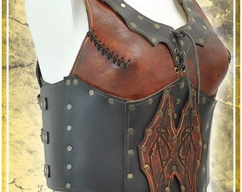 Leather Valkyrie's corset
