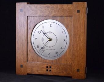 Craftsman II Medium - Mission Style Wall Clock