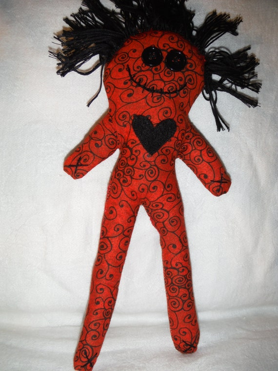 Red and Black Voodoo Doll