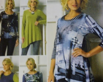 Womens Knit Pullover Top Vogue Sewing Pattern V9057 Size Xs-S-M  FF