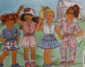 Girls Top/ Shirt /Skirt /Pants/ Butterick 6606 Sewing Pattern/ BusyBodies /Size 2-3-4