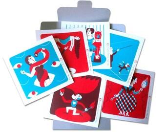 Panoply Collection / No. 4 'Le cirque de la vie' (6 silkscreens, limited edition)
