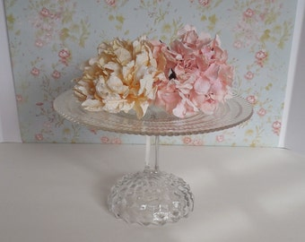 Clear Glass Cake Stand / Crystal Clear Cake Pedestal / Wedding Cake Stand / Vintage glass cake stand / Cake Pedestal / Dessert stand