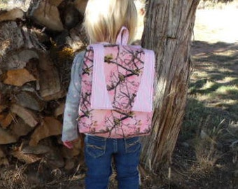 Pink Camo toddler backpack