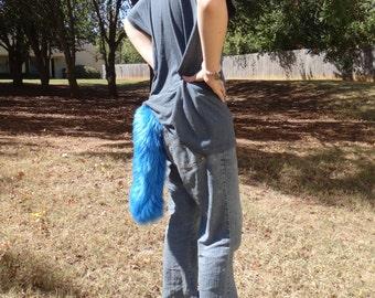Blue Costume Fox Tail