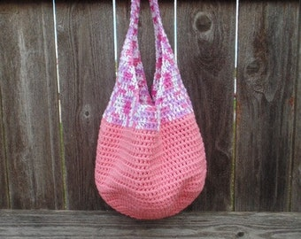Crochet Beach Bag, Resort Wear Crochet Tote Bag, Crochet Market Bag, Market Tote Bag, Pink Crochet Tote Bag, Beach Bag Tote, Beach Tote Bag