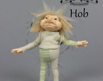 OOAK Pixie Brownie Art Doll Sculpture - Hob - by Ksheyna Nightswood