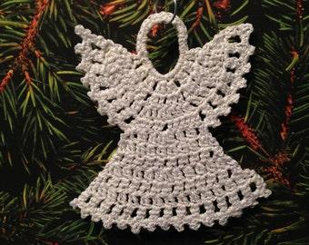 Beautiful Crochet angel ornament - holiday ornament, Christmas, christening, wedding, first communion