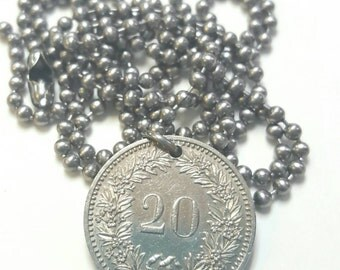 1984 Coin Necklace - Stainless Steel Ball Chain or Key-chain