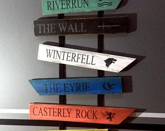 Game of Thrones Wood Signs...set of 10 signs