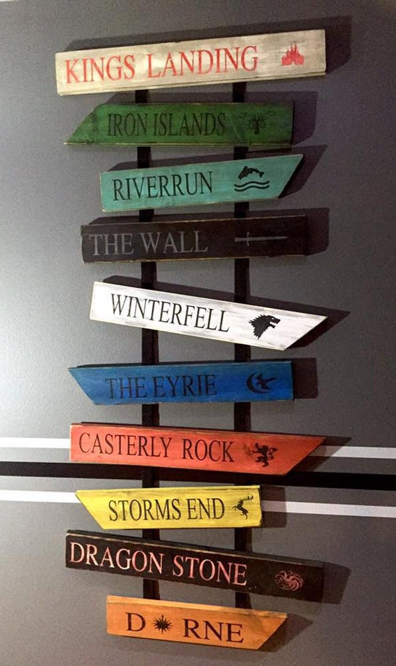 Game Of Thrones Wood Signs Set Of 10 Signs
