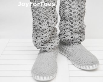 Crochet Boots Women Shoes Crocheted Boots Handmade Shoes for the Street Lace Boho Style Summer Fashion Gifts for her Surprise for holiday