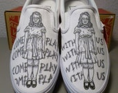 Custom Vans The Shining Grady Twins Handpainted Shoes Slip-on